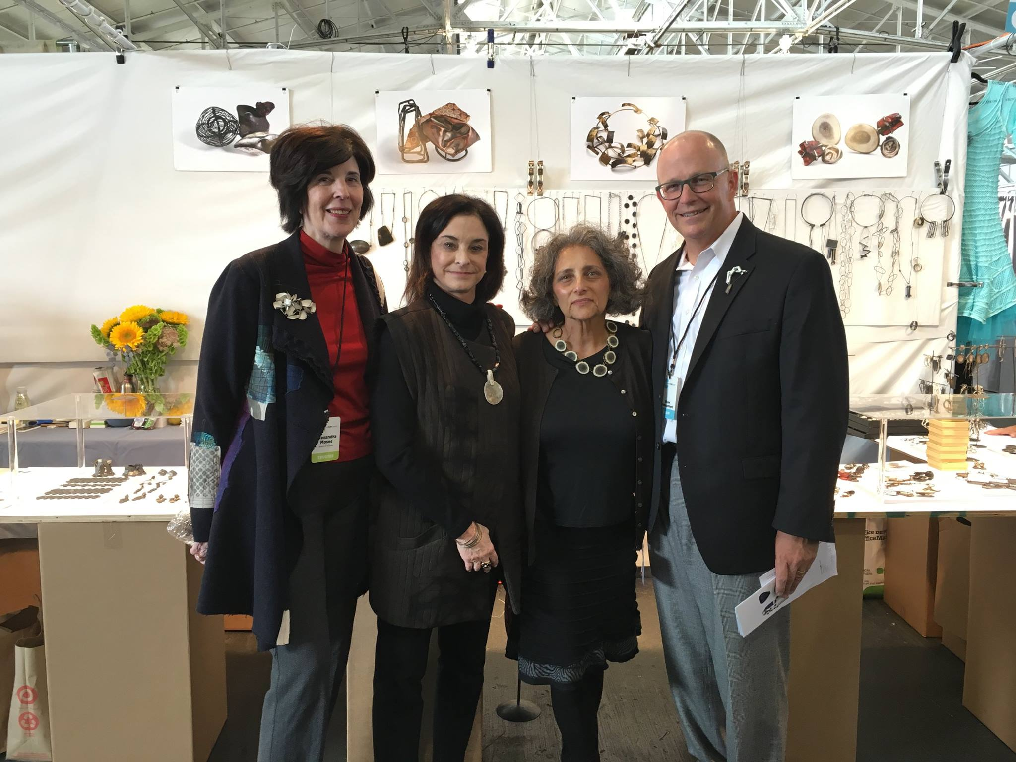 Alex Moses Barbara Waldman ACC show artist Biba Schutz and former ACC executive director Chris Amundsen pictured at the 2016 American Craft Show in San Francisco
