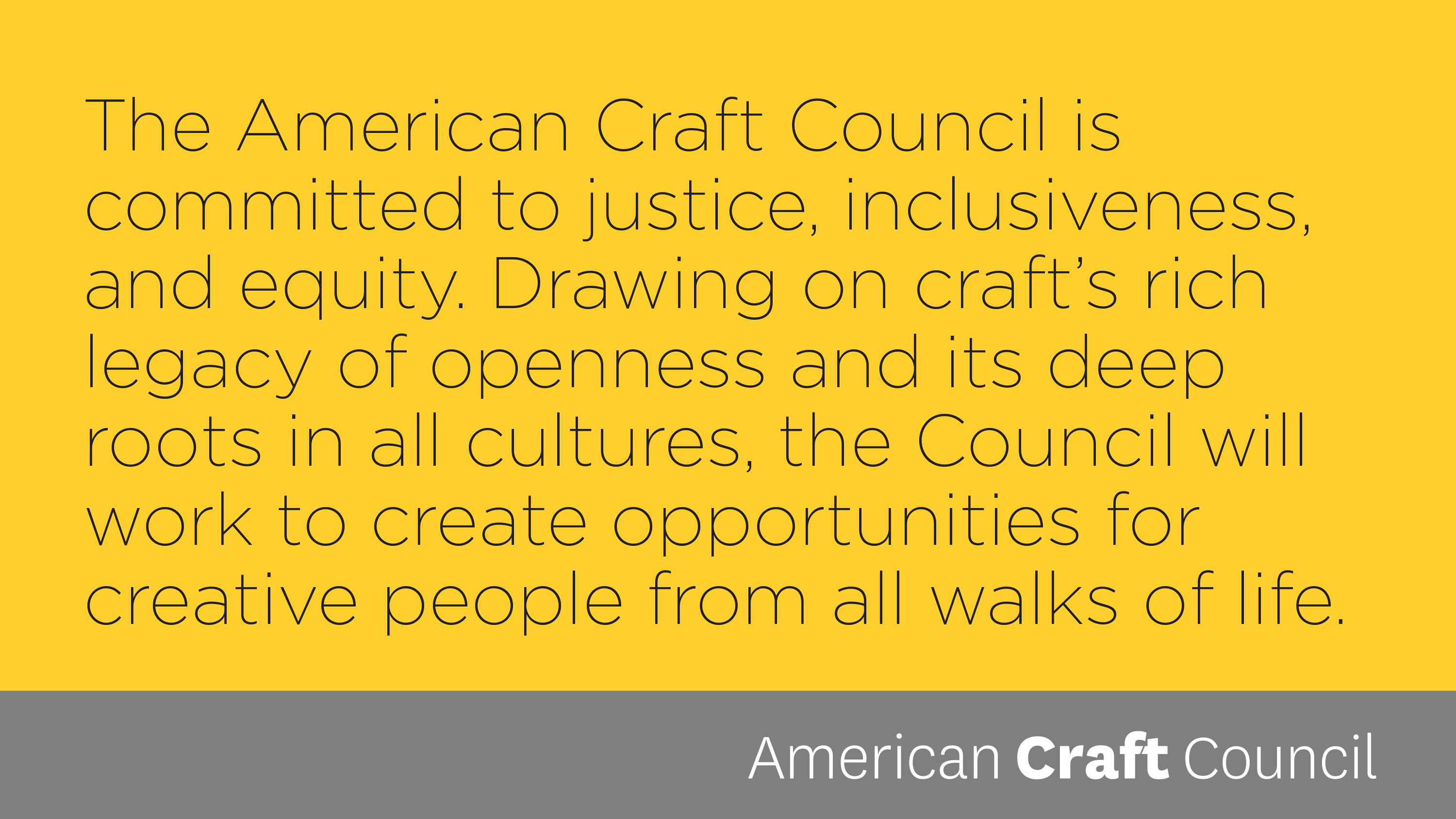 American Craft Council Rare Craft Awards