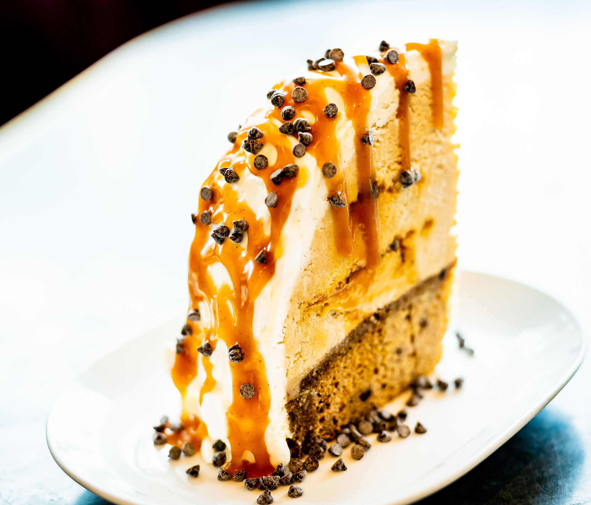 Sticky toffee banana ice cream cake by Jen Yee