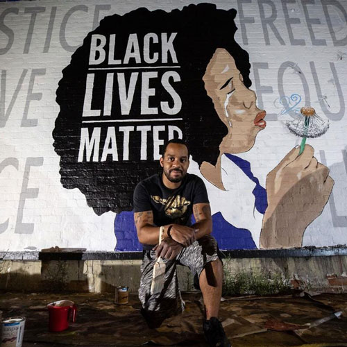 Robbie Lee Harris Black Lives Matter Mural Tucson