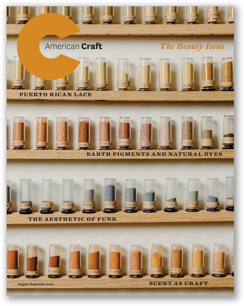 Cover of the Beauty issue of American Craft