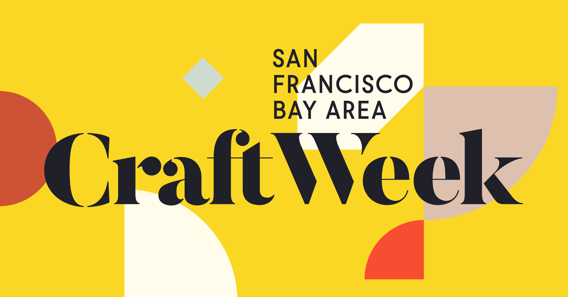 Yellow cover graphic for San Francisco Bay Area Craft Week