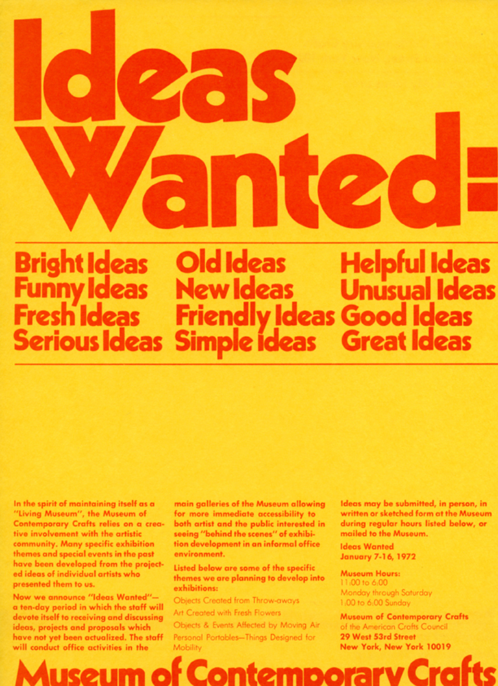 Ideas Wanted: Experimenting With Participation