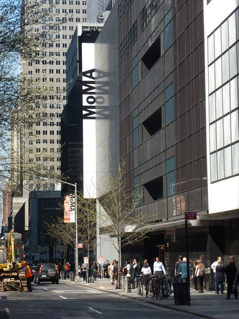 exterior of the museum of modern art moma on 53rd street in new york