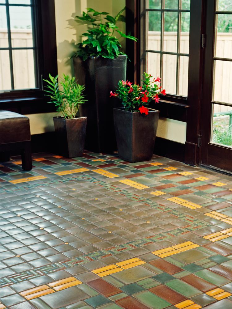 Motawi tileworks american craft council for Frank lloyd wright flooring