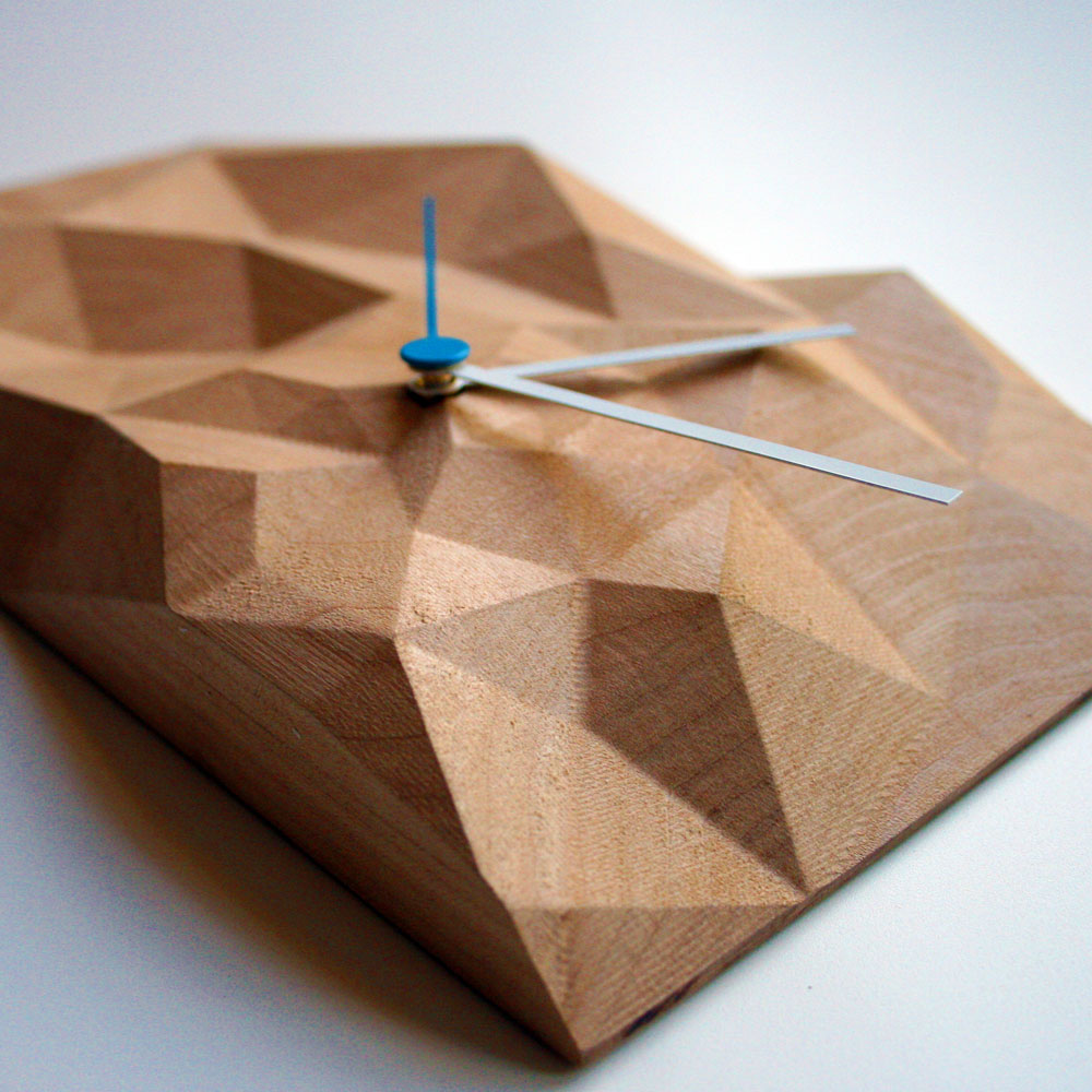 Beautifully Carved Block Clocks By Such Such American