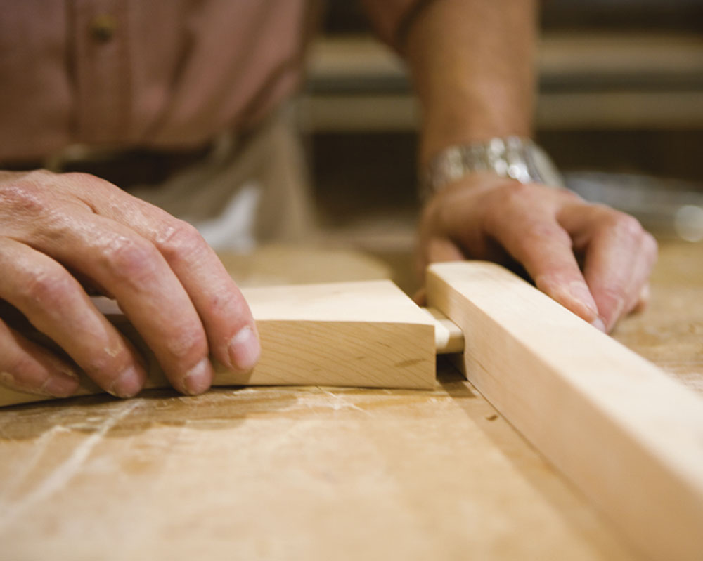 Arthur Weitzenfeld, Founder Of Vermont Furniture Designs, Fitting The  Joinery In One Of His Pieces.