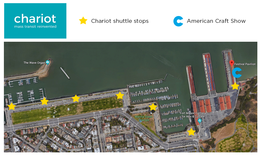 Chariot shuttle stops