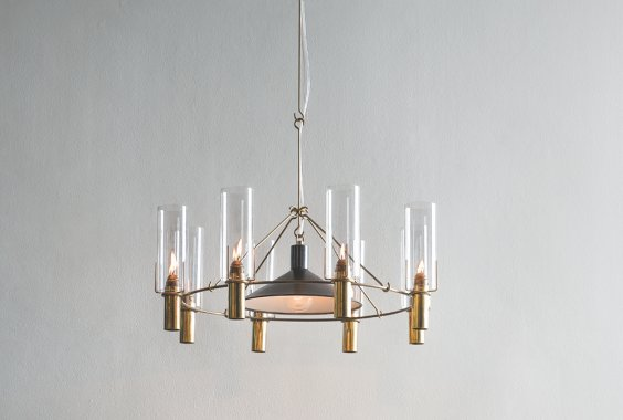 Robert Long Oliver Chandelier with Reflector