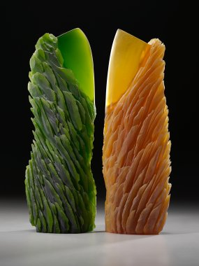 Alex Bernstein glass sculptures