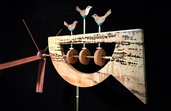 David Winigrad Grouper Bird Spinner Whirligig
