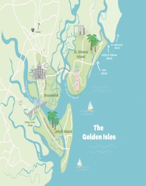The Golden Isles Map
