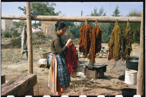 Todd Webb, Alice with yarn drying