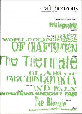 Craft Horizons September/October 1964 cover