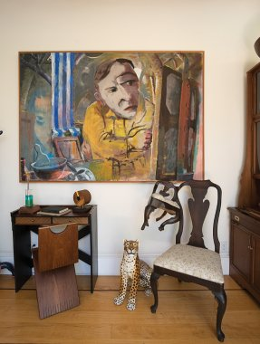 Joy Umali Conjoined Chair and Jack Ogden painting