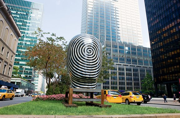 Jun Kaneko Untitled Head Park Avenue New York