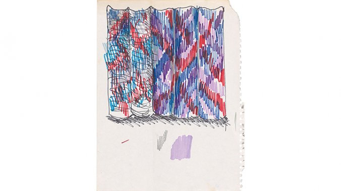 Lia Cook study for spatial ikat