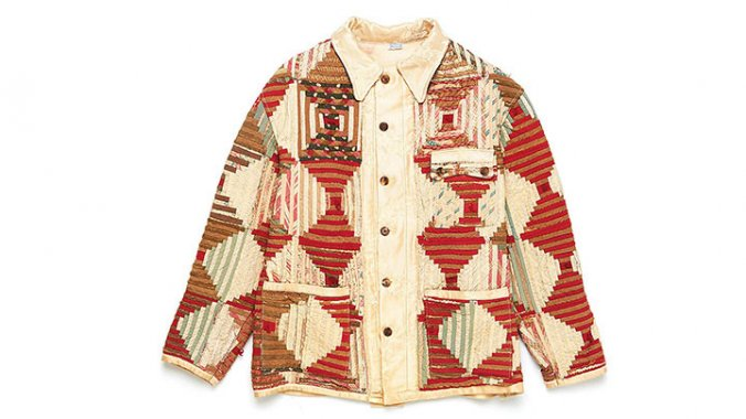 Bode Warm Tone Log Cabin Jacket Front