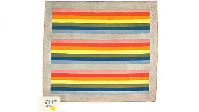 Rainbow Stripes cotton pieced quilt