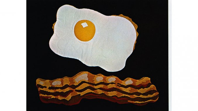 Ron Cross Fried Egg Baby Quilt