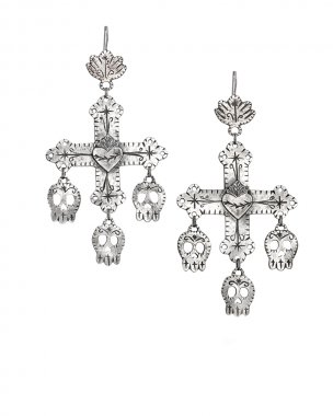 Lorena Angulo Day of the Dead Yalang Crosses Earrings