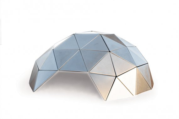 Beatriz Cortez geodesic dome Two Hundred and Sixteen Point Shield