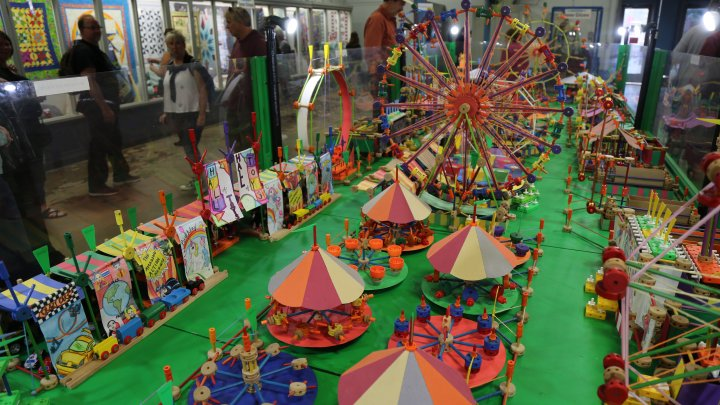 A tinker-toy rendition of the Minnesota State Fair's amusement park