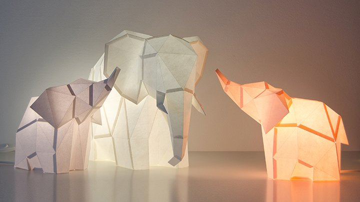 OWL, Paper Lamp, Elephant Family