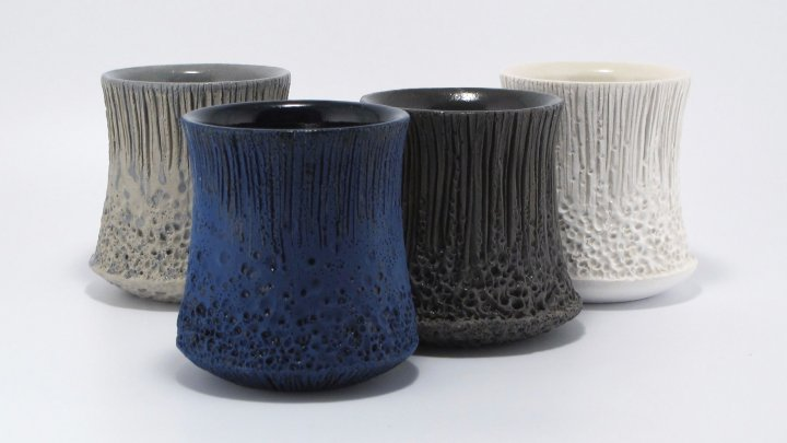 Judi Tavill ceramic mugs