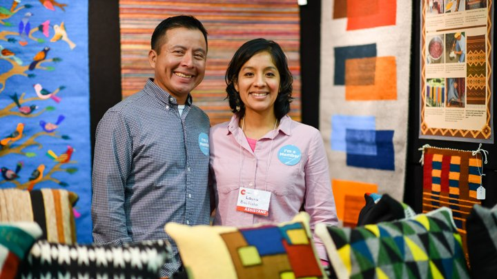 Francisco and Laura Bautista of Bautista Fine Hand Wovens