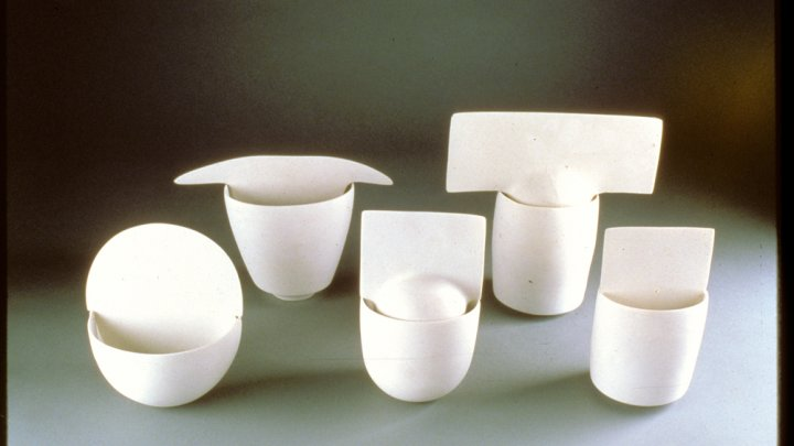 Ruth Duckworth's Untitled (Five Porcelain Forms)