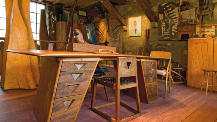 Wooden Studio Furniture ~ At home with wood american craft council