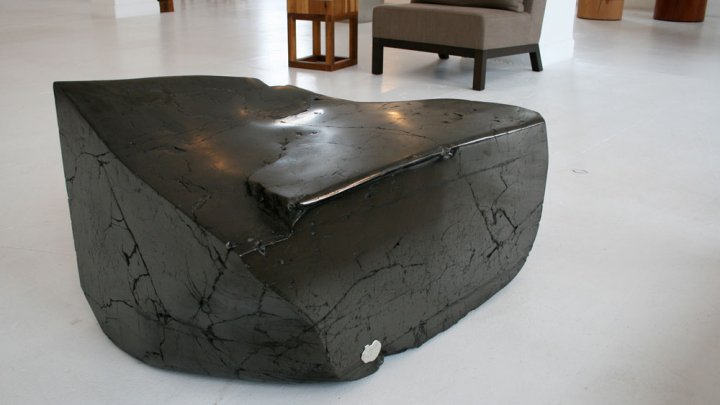 Beau A Sculptural Coal Table By Zivic Honed To A Smooth Finish In The Ralph  Pucci Showroom In New York City.