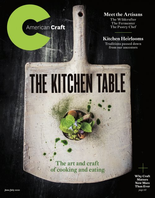 Cover of the June July 2020 Kitchen Table issue of American Craft