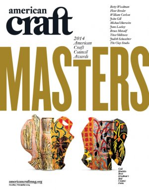 October/November 2014 cover of American Craft magazine