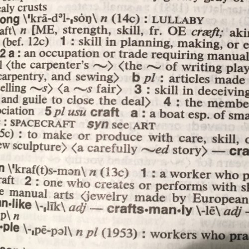 Dictionary definition of craft