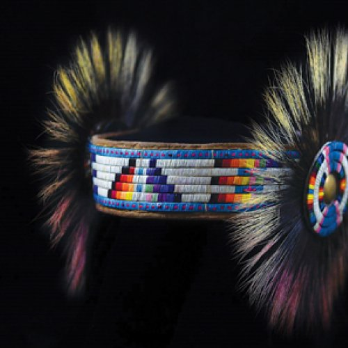 Dana Warrington, men's powwow-style headband