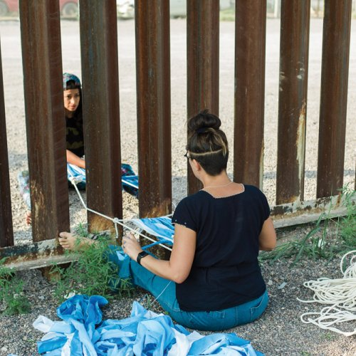 Tanya Aguiniga and Jackie Amezquita border wall project