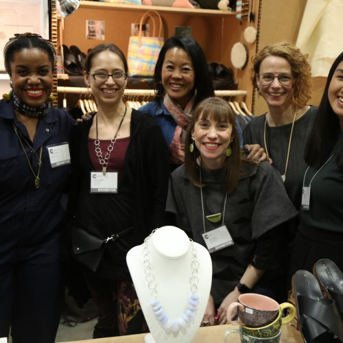 Hip Pop Participants (left to right) Alicia Goodwin, Jeannie Trelles, Jenny Fong, Lisa Valley, Nicole Woerner Kelly, and Beau Sinchai at 2018 American Craft Show in Saint Paul