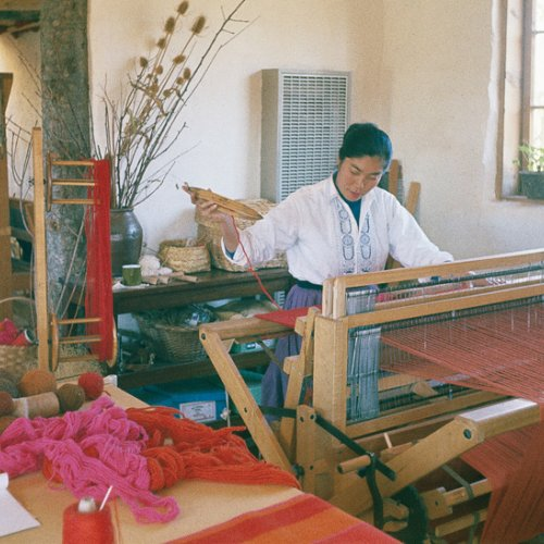 Alice Kagawa Parrott at the loom