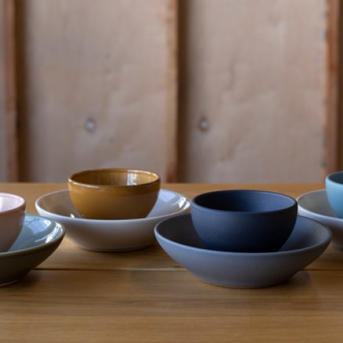 Various dishes from Heath Ceramics' Chez Panisse line