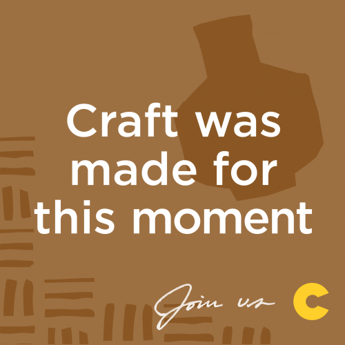 Craft was made for this moment graphic