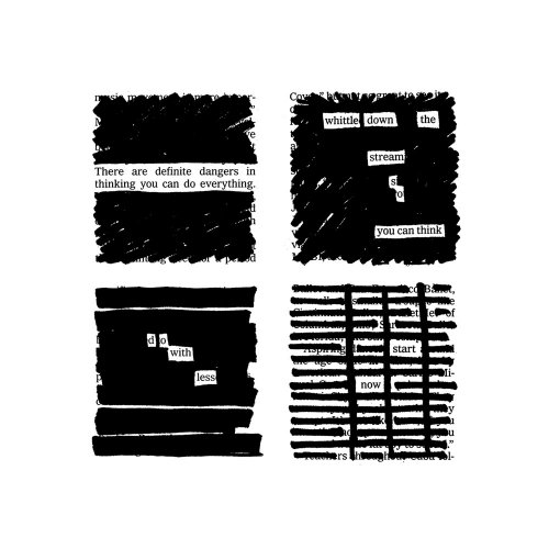 Austin Kleon Newspaper Blackout