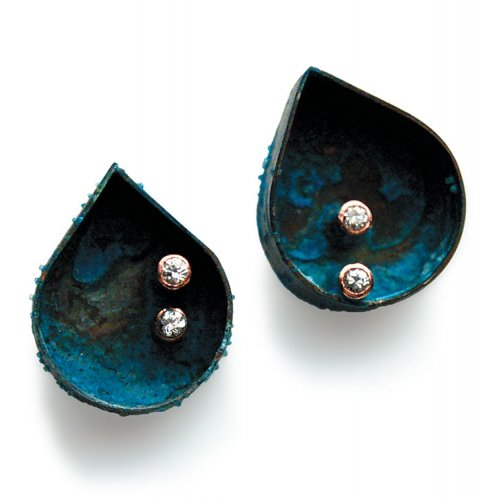 Katie Poterala Patina Stud Earrings