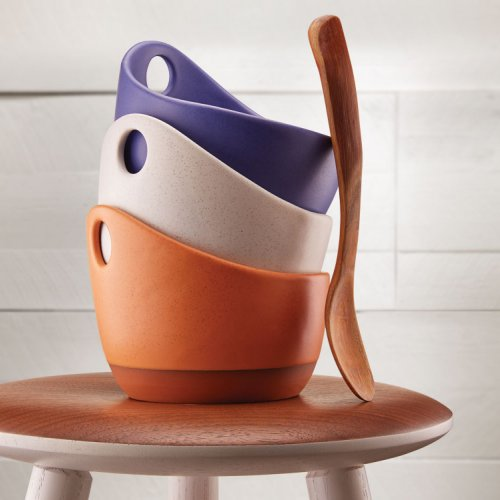 Bowls by Paul Eshelman, Spoon by Dan Dustin, Stool by Scott McGlasson