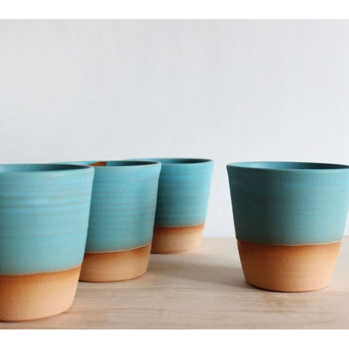 Julia Paul Pottery tumblers