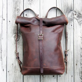 Cedar and Stone leather backpack