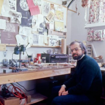Eugene Pijanowski in his studio, 1977
