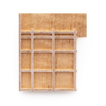 Thomas Gentille, Plywood Maple and Grid, No. 6