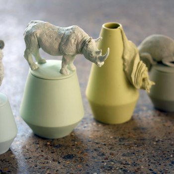 Charlotte Mary Pack, Species Pots (White Rhino detail)